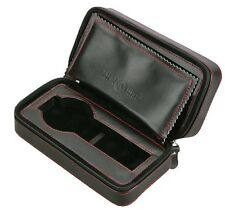 Diplomat Travel Watch Case - Black Leather (2 Watches) Portable Pouch Box