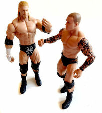"WWF WWE TNA Wrestling  TRIPLE HHH vs ORTON Mattel Series 6"" figure set lot"