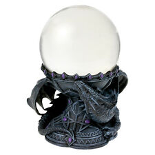 11CM CRYSTAL BALL WITH DRAGON BEAUTY CRYSTAL BALL HOLDER - 18cm - ANNE STOKES