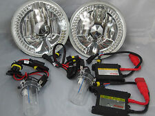 """Jeep Wrangler  7"""" HID 10000k Conversion Clear LED Headlights REPLACEMENT"""