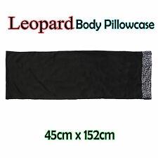 LEOPARD Black Body Pillowcase 48cm x 150cm NEW