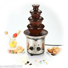 Mini Stainless Steel 4 tiers Home Chocolate Fountains Chocolate Fondue Fountain