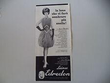 advertising Pubblicità 1961 LAINES EDREDON