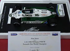 1:18 Spark Williams FW07B Alan Jones Campeón del mundo 1980-18S117 * FIRMADA CON cert. de autenticidad *