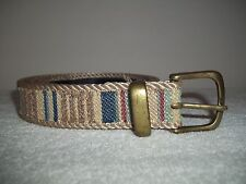 Elite Accessories Womens' Woven Belt Multi Color Striped Size Large