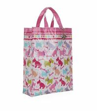 HARRODS WESTIE e Scottie Dog Design Rosa Medium Tote Bag-libera PORTACHIAVI