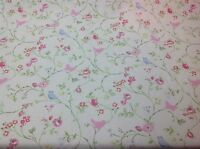 Clarke and Clarke Bird Trail(CHINTZ)Cotton Fabric for Curtain/Upholstery,Crafts
