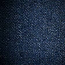 Navy Blue & Medium Blue Herringbone Tweed - 2.50 Mtrs