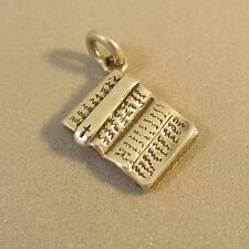 .925 Sterling Silver 3-D OPEN HOLY BIBLE CHARM NEW Pendant Cross 925 FA40