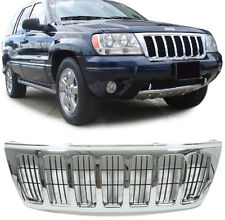 ALL CHROME BONNET GRILL FOR JEEP GRAND CHEROKEE 1999-2003 LAREDO