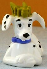 1996 McD 101 Dalmatian TOY Ornament #77 DOG with GREEN CRICKET on HEAD