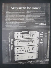 1979 AIWA Mini Component System Stereo Amp Turner Cassette Deck+ Print Ad Page