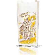 """1000 Faltenbeutel 14x6x33cm #423 Bäckerbeutel Papiertüten """"Täglich frisch"""""""