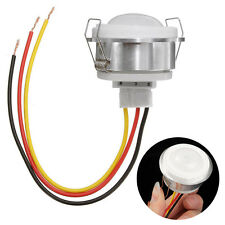 360° Infrared PIR Ceiling Recessed Motion Sensor Detector Light Switch w/ Wire