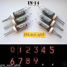 IN-14 NIXIE TUBES FOR CLOCK KIT / LOT OF 6PCS. NEW. TESTED. NUMERIC, GAZOTRON