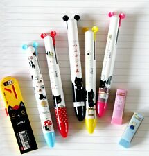 San-X Kutusita Nyanko 2 Way Ball Point Pen - 6 Piece