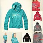 Hollister by Abercrombie GIRLS Logo Graphic Hoodie Size XS S M L NWT pink RED