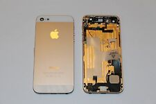 FULL HOUSING COVER CASE FOR IPHONE 5 GOLD