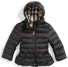 BURBERRY GIRLS' JADENE QUILTED DOWN PUFFER JACKET BLACK SIZE 6 MONTHS NWT $250