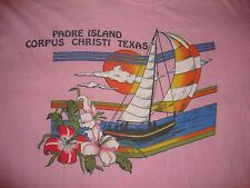 VTG 80's Corpus Christi Texas Padre Island Sailboat Sleeveless tourist T Shirt S