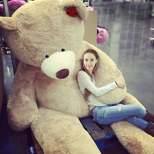 """200CM SUPER HUGE TEDDY BEAR (ONLY COVER) PLUSH TOY SHELL (WITH ZIPPER) 79"""""""