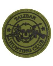 Taliban Hunting Club military PVC Rubber Badge GREEN Velro Back TRF Afghanistan