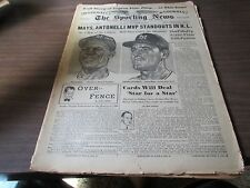 COMPLETE SPORTING NEWS SEPTEMBER  15, 1954-WILLIE MAYS COVER