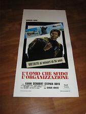 LOCANDINA,1975, L'UOMO CHE SFIDO' L'ORGANIZZAZIONE, Grieco,H. ROSS,K.Schubert