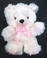 "NEW 15"" PINK TEDDY BEAR w/ Long Fur Plush Stuffed Animal Toy ~ Royal Plush Toys"