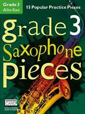 Grade 3 Alto Saxophone Pieces Learn to Play SAX Music EXAM Book & Download Card