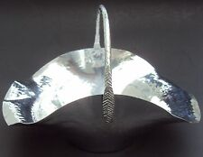 New listing Hammered Aluminum Silver Metal Basket Revere Rome Ny
