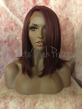100% Human Hair Blend Bob Cut Realistic Part Lace Front Wig