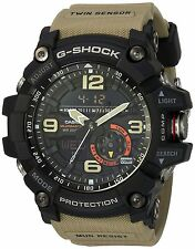 Casio Men's 'G SHOCK' Quartz Resin Casual Watch, Color:Beige (Model: GG-1000-...