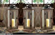 "6 large 16"" tall Wood metal Candle holder Lantern lamp wedding table centerpiece"