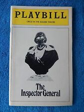 The Inspector  - Circle In The Square Theatre Playbill - September 1978 - Bikel