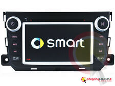 NAVIGATORE GPS AUTORADIO NUOVA SMART FOR FOUR FOR TWO DVD TOUCH USB TV DVB-T MP3