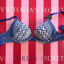 NWT VS VICTORIA'S SECRET Bombshell Add-2-Cups Push-Up Plunge Bra 32A Blue 3RM