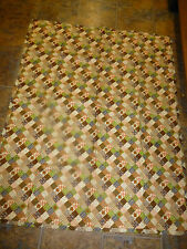 """Handmade Tied Quilt 43"""" x 51"""" Brown Squared Multi color"""