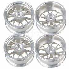4pcs Aluminum Y-shape Wheel Rims For RC1:10 On Road Car&Drift Car Upgrade Silver