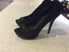 Black High Heel Shoes Bow Size 4