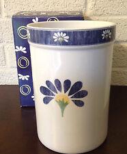 HTF! Oneida Kitchen SPRING DAISY UTENSIL HOLDER JAR Crock Canister COBALT BLUE