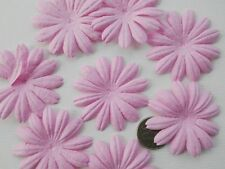 100! Mulberry Paper Flower Petal Blossom - Large Pale Pink Daisy - 4cm/1.5""