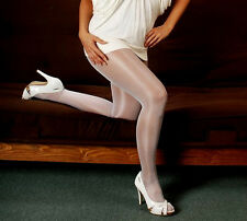 Peavey nurse White Q Shiny Tights for sexy Costume Hooters uniform halloween