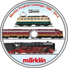 NEW Marklin Modern Train Catalogs DVD 1980-2014 Collection Slot Cars & Digital