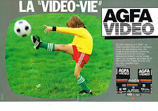 PUBLICITE   1982   AGFA VIDEO   BETAMAX ou V 2000 (2 pages)
