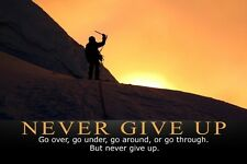 Never Give Up.Bodybuilding Fitness Motivational Poster Silk 30x45cm Print 16