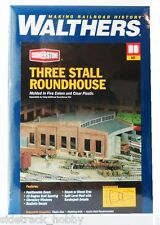 HO Scale Walthers Cornerstone 933-3041 Three-Stall Roundhouse Building Kit