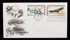 1971 FDC Wildlife Conservation Polar Bear and CA Condor 8c Stamps #1429-1430