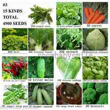 4900+ SURVIVAL HEIRLOOM VEGETABLE GARDEN SEEDS NON GMO ORGANIC FOOD BANK LOT