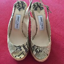 Jimmy Choo Snakeskin Wedges Size 36